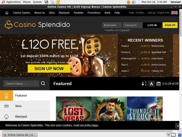 Casinosplendido No Deposit Bonus