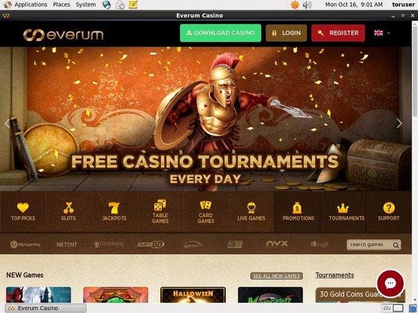 Everum Casino 存款奖金