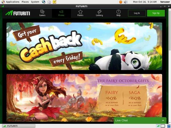 Futuriti Casino New Customer