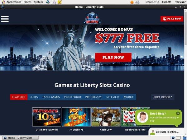 Libertyslots Free Bonus Code