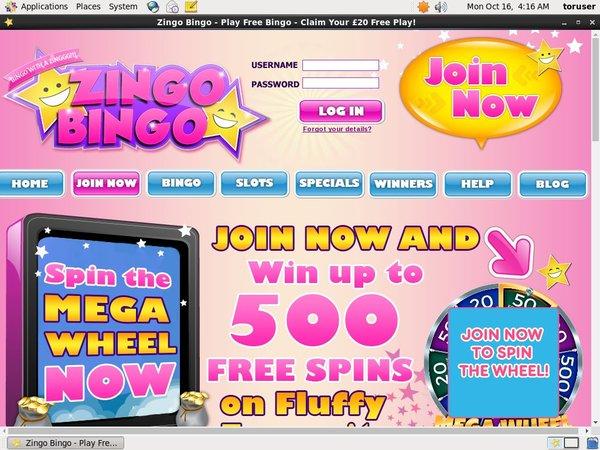 Zingobingo Online Casino Jackpot