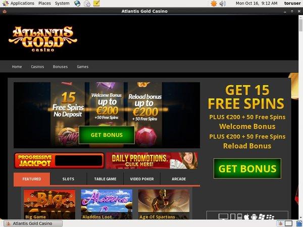 Atlantis Gold Bonuskode