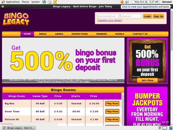 Bingo Legacy Payout