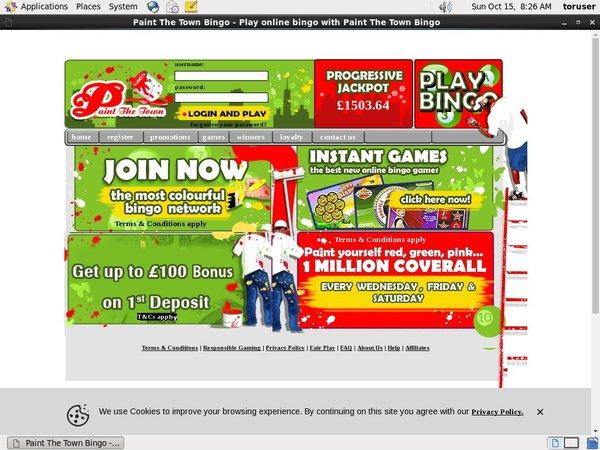 Paint The Town Bingo Online Casino