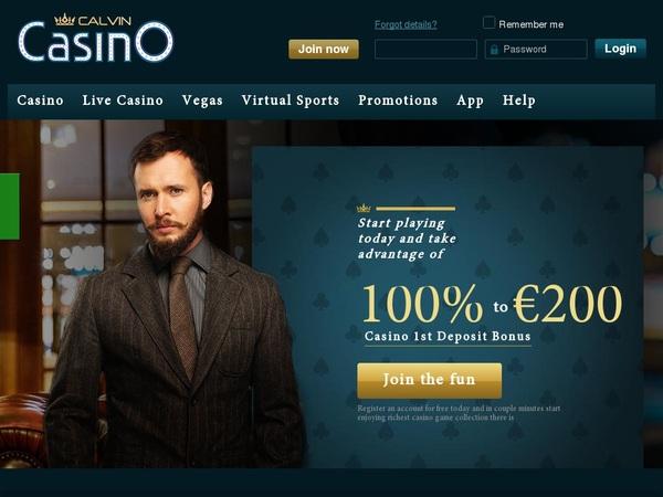 Calvin Casino Free Bonus No Deposit