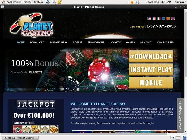 Planet Casino Entropay