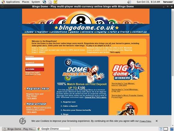 Bingo Dome High Roller Bonus