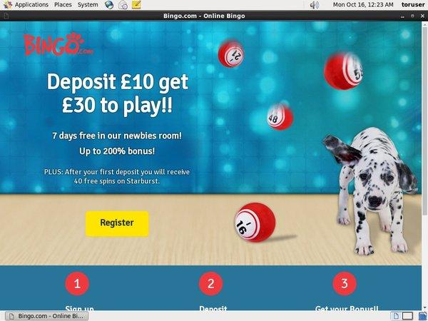 Bingo.com Deposit