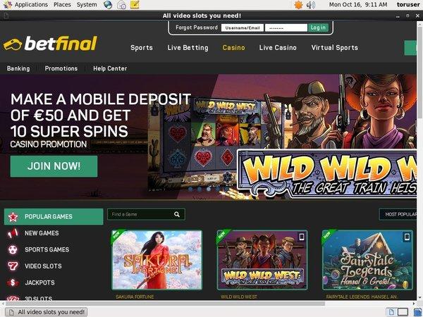 Betfinal Online Roulette