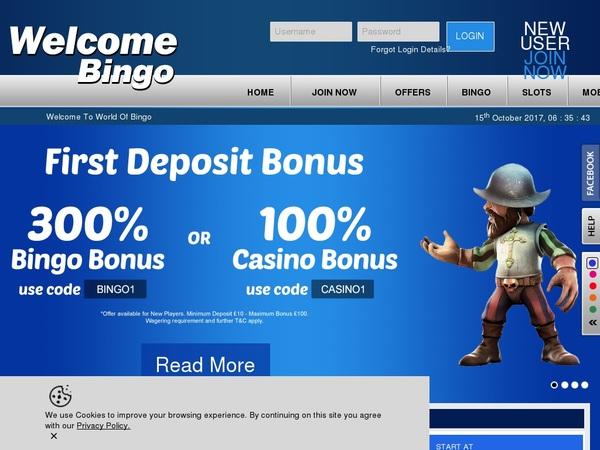 Welcomebingo Bonus