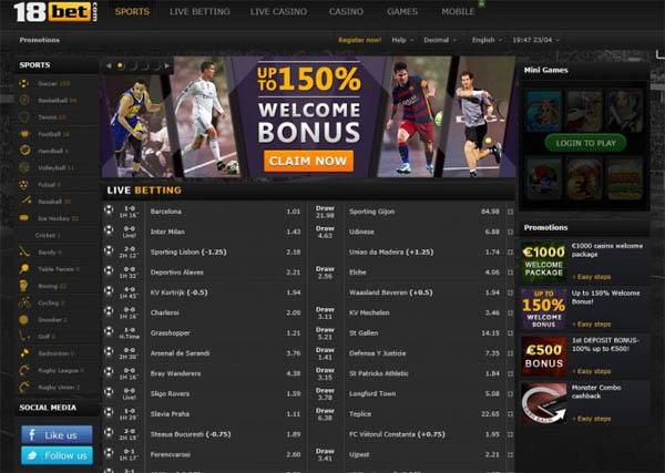 18bet Casinos Online