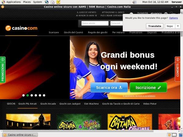 Casino.com Italian No Deposit