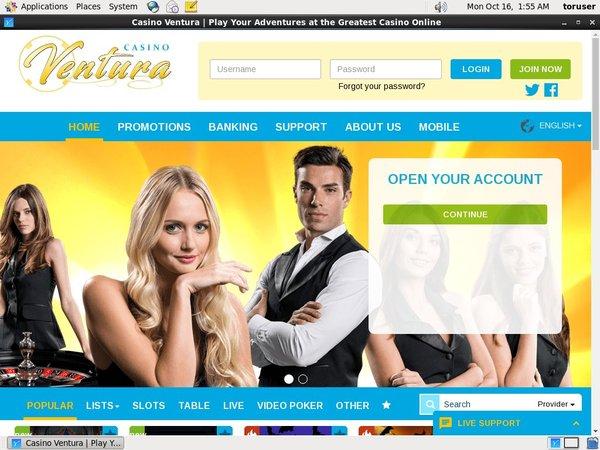Casino Ventura приветственный бонус