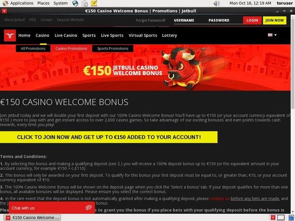 Signup Bonus Jetbull