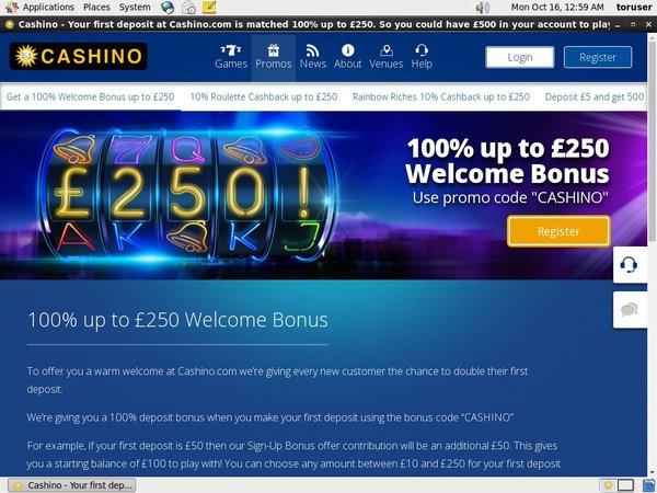 Cashino Deposit Methods