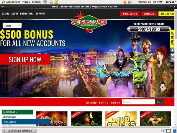 Vegas 2 Web Voucher Codes