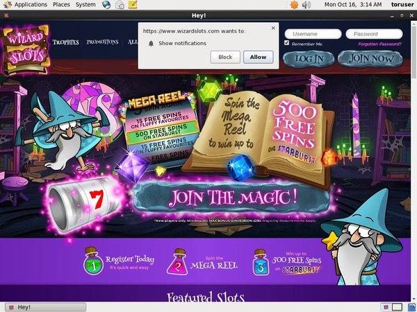 No Deposit Wizard Slots Bonus