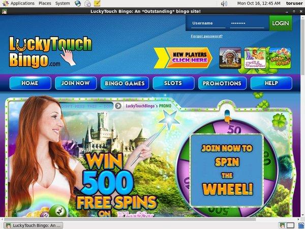 Lucky Touch Bingo Specials