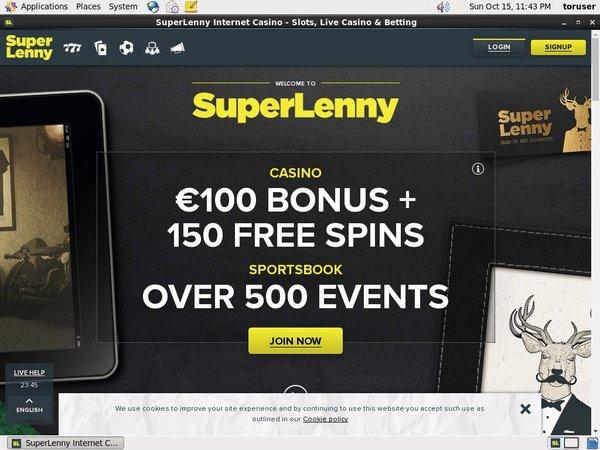 Super Lenny Get Free Spins
