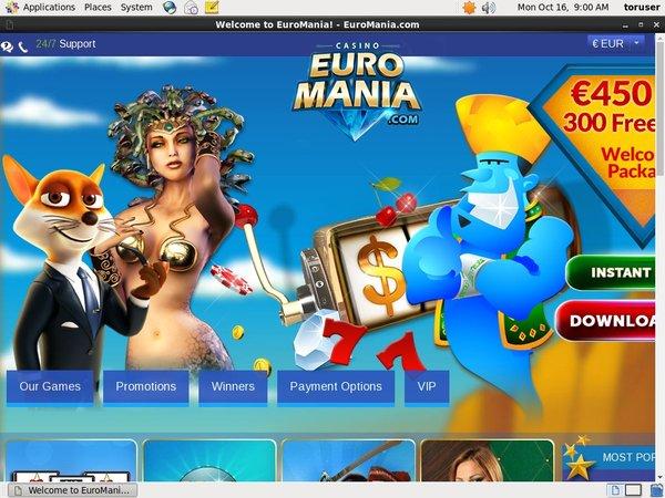 Euro Mania Best Casino